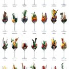 """Exotic Alcohol Drinks Cocktails Chart 18""""x28"""" (45cm/70cm) Poster"""