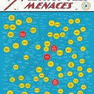 "The Myriad Monikers of Metropolis Menaces Chart 13""x19"" (32cm/49cm) Polyester Fabric Poster"