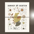 """The Survey of Scotch Whiskey Distilleries of Scotland Chart  18""""x28"""" (45cm/70cm) Bundle of 2 Poster"""