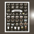 """38 ways to make a perfect Coffee Chart 18""""x28"""" (45cm/70cm) Bundle of 2 Poster"""