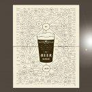 """The very many varieties of Beer Chart 18""""x28"""" (45cm/70cm) Bundle of 2 Poster"""
