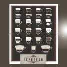 """Exceptional Expressions of Espresso coffee Chart 18""""x28"""" (45cm/70cm) Bundle of 2 Poster"""