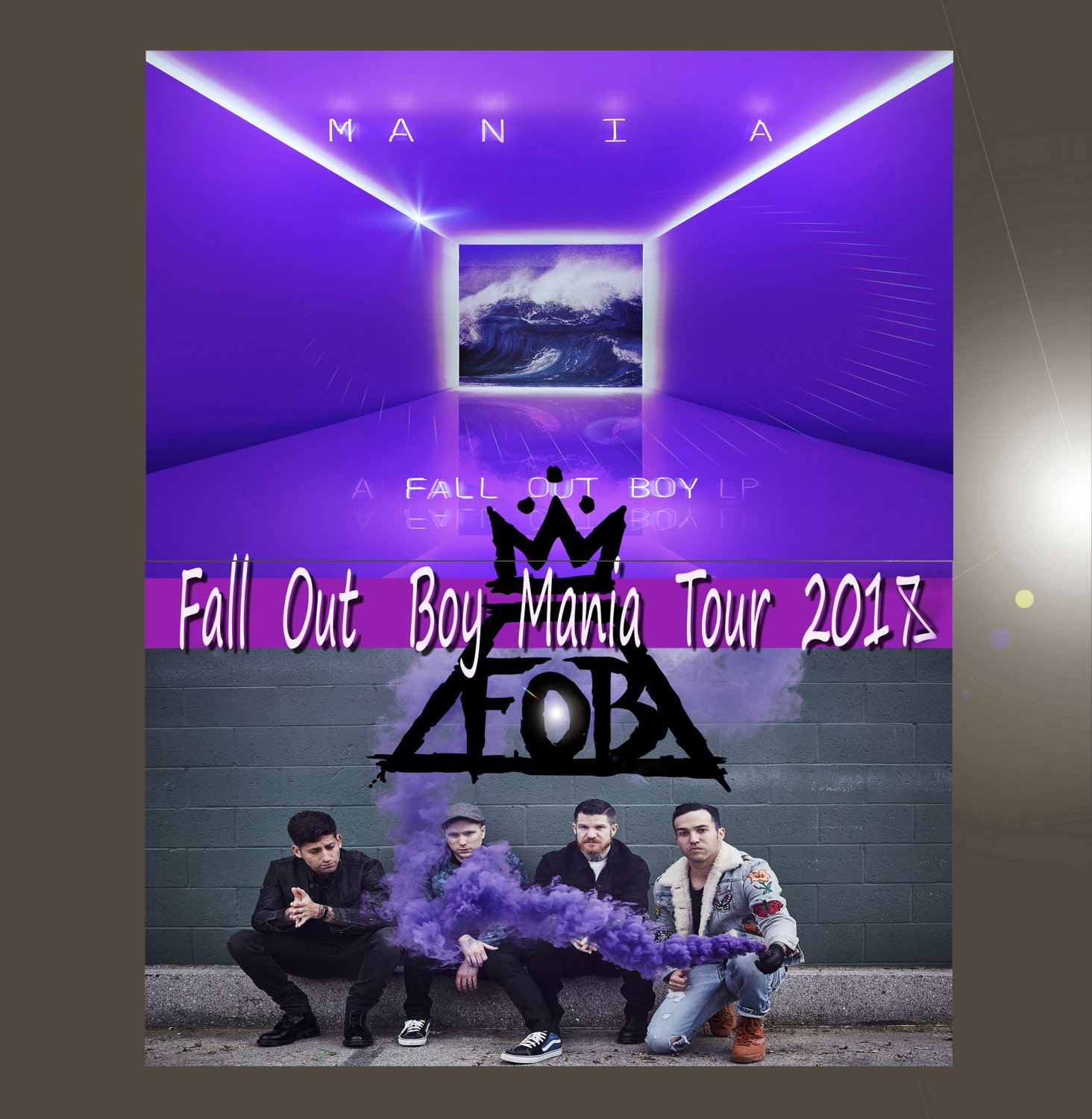 "Fall Out Boy M A N I A 18""x28"" (45cm/70cm) Bundle of 2 Poster"