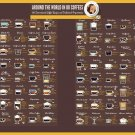 """Around the World in 80 Coffees 18""""x28"""" (45cm/70cm) Poster"""