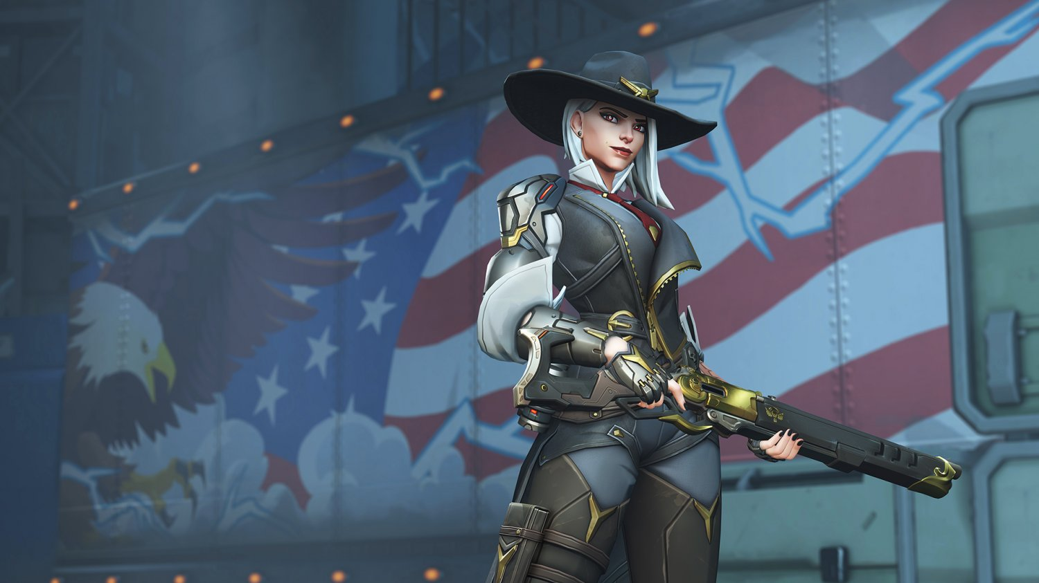 "Overwatch Ashe 13""x19"" (32cm/49cm) Polyester Fabric Poster"