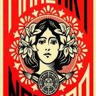 """Make Art Not War 13""""x19"""" (32cm/49cm) Polyester Fabric Poster"""