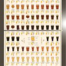 "Many Varieties of Beer 101 Chart 18""x28"" (45cm/70cm) Bundle of 2 Poster"
