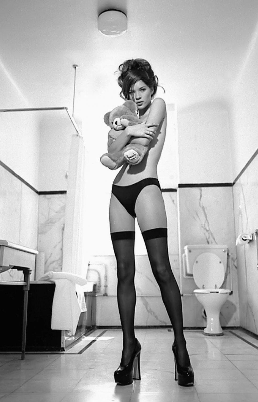 "Kate Moss 18""x28"" (45cm/70cm) Canvas Print"