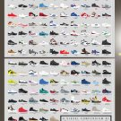 "A Visual Compendium of Sneakers Chart  18""x28"" (45cm/70cm) Bundle of 2 Poster"