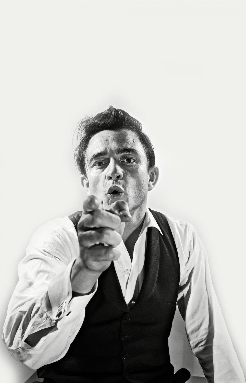 """Johnny Cash 18""""x28"""" (45cm/70cm) Canvas Print"""