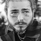 "Post Malone 18""x28"" (45cm/70cm) Canvas Print"