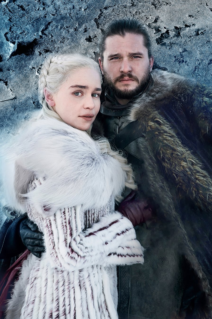 "Jon Snow Daenerys  Game of Thrones 18""x28"" (45cm/70cm) Canvas Print"