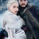 "Game of Thrones Daenerys Jon Snow 8""x12"" (20cm/30cm) Satin Photo Paper Poster"