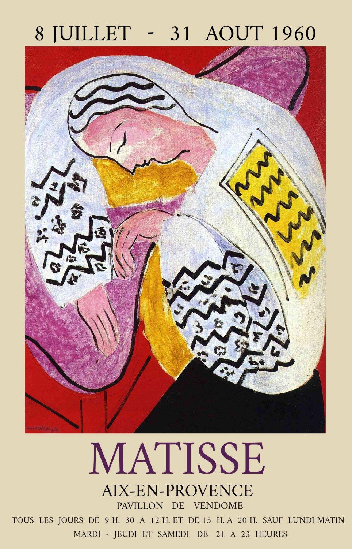 "Henri Matisse Aix En Provence 13""x19"" (32cm/49cm) Polyester Fabric Poster"