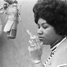 "Aretha Franklin Cigar Cigarette 24""x35"" (60cm/90cm) Canvas Print"