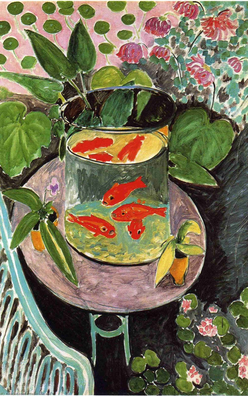 "Henri Matisse The Goldfish 13""x19"" (32cm/49cm) Polyester Fabric Poster"