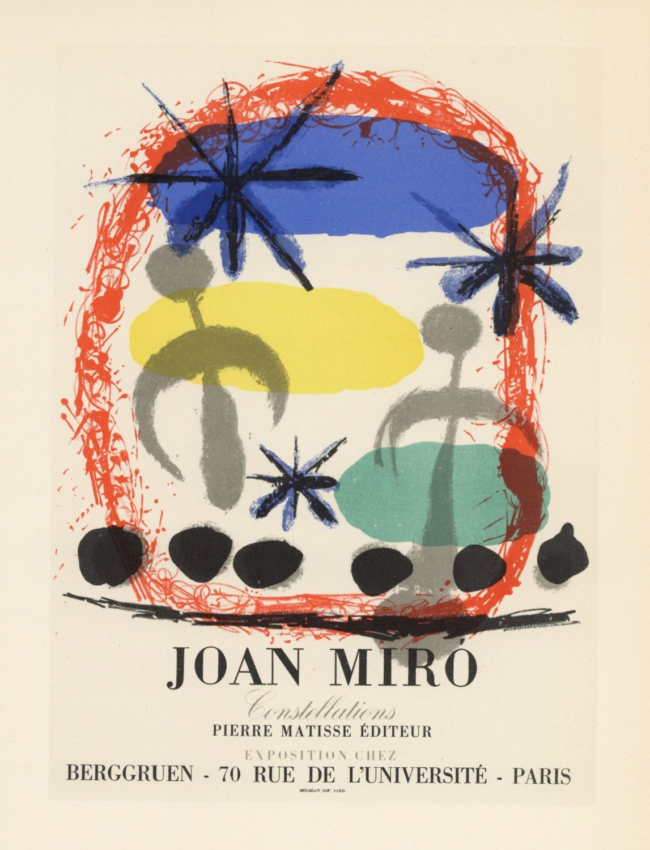 "Joan Miro Constellations Berggruen Paris 18""x28"" (45cm/70cm) Canvas Print"