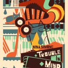 """Nina Simone Trouble in Mind Vintage 13""""x19"""" (32cm/49cm) Polyester Fabric Poster"""