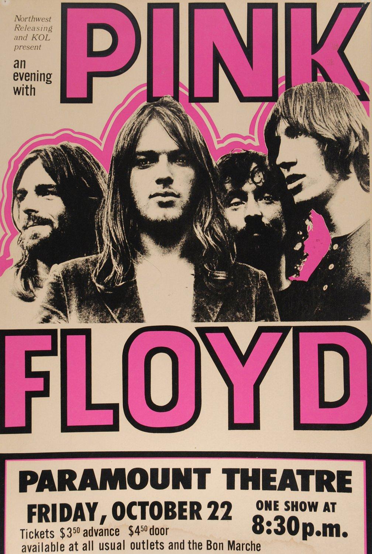 """Pink Floyd Paramount Theatre Concert Tour 18""""x28"""" (45cm/70cm) Poster"""
