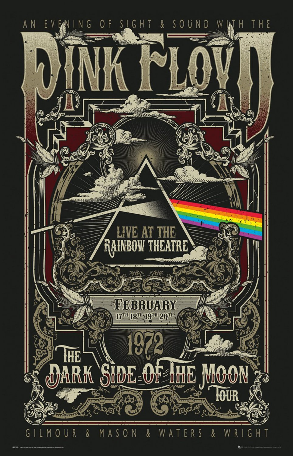 "Pink Floyd the Dark Side of The Moon Concert Tour 24""x35"" (60cm/90cm) Canvas Print"