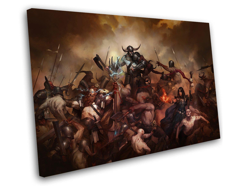 """Diablo 4 14""""x20"""" (35cm/51cm) Canvas Print"""