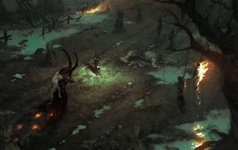 """Diablo 4 18""""x28"""" (45cm/70cm) Canvas Print"""