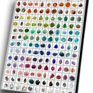 "The World of Semi-precious Stone Sample Chart 14""x20"" (35cm/51cm) Canvas Print"