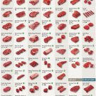 """Beef Cuts Recommended Cooking Methods Chart 24""""x35"""" (60cm/90cm) Canvas Print"""