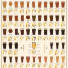 "Many Varieties of Beer 101 Chart 24""x35"" (60cm/90cm) Canvas Print"
