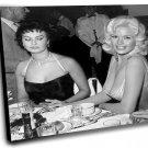 "Sophia Loren and Jayne Mansfield 18""x18"" (45cm/45cm) Canvas Print"