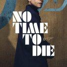 """No Time to Die James Bond 007 Daniel Craig 24""""x35"""" (60cm/90cm) Canvas Print"""