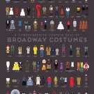 """A Comprehensive Curtain Call of Broadway Costumes Chart 24""""x35"""" (60cm/90cm) Canvas Print"""