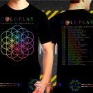Coldplay A Head Full Of A Dream Tour Dates 2017 Black Concert T Shirt S to 3XL A4