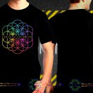 Black Concert T Shirt Coldplay A Head Full Of Dream S to 3XL A8