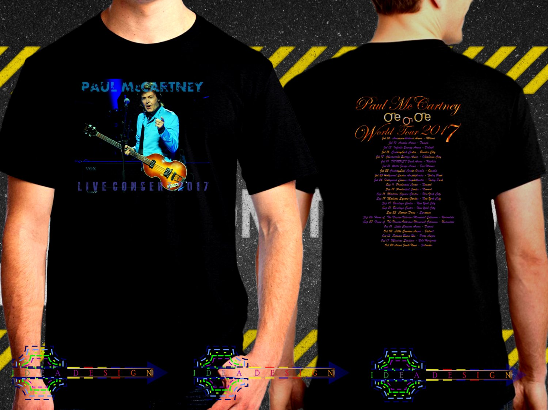 Paul McCartney Tour Dates Black Concert T Shirt to 3XL A25
