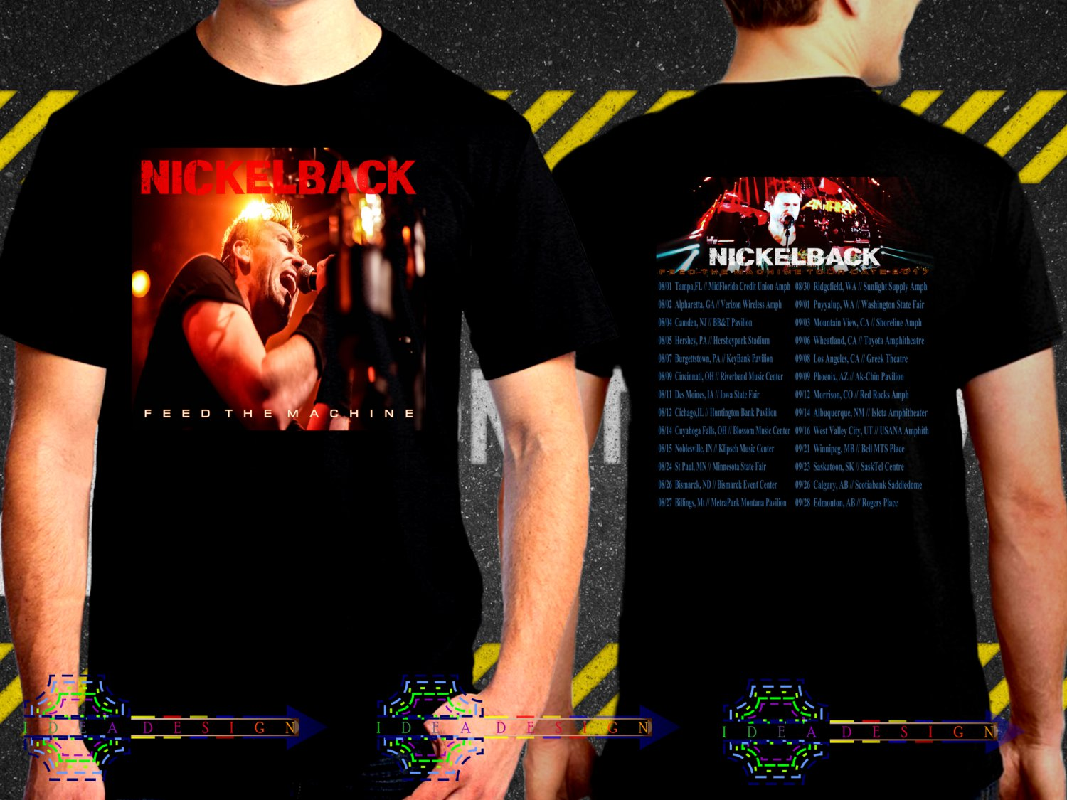 Nickelback Feed The Machine Tour Date 2017  Black Concert T Shirt S to 3XL A39