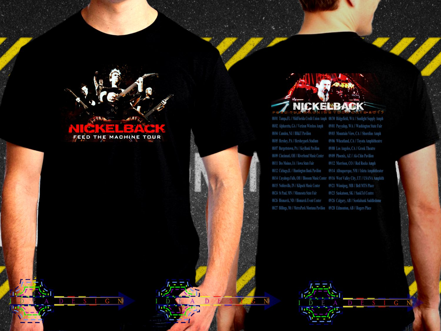 Nickelback Feed The Machine Tour Date 2017  Black Concert T Shirt S to 3XL A40