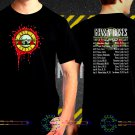 Guns N Roses Not In This Lifetime Tour Date 2017 Black Concert T-Shirt S to 3XL GNR3