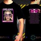 Lady Gaga Joanne Tour 2018  Black Concert Dates T-Shirt S to 3XL Lag3