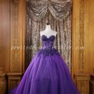 Pretty Violet Blue Ball Gown Quinceanera Dress With Lace