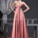 Stunning Empire Full Length Dusty Rose Formal Maternity Evening Dress