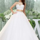 Two Pieces Ball Gown Lace Quinceanera Dress