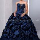 Classy Sweetheart Ball Gown Full Length Dark Navy Sweet 16 Dresses