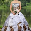 Beautiful White And Leopard Ball Gown Quinceanera Dresses