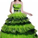 Classy Lime Green And Black Ball Gown Quinceanera Dresses