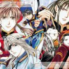 Yuu Watase FUSHIGI YUUGI GENBU KAIDEN X-Large Furoku Sho-Comi Perfect World Calendar + Game Poster