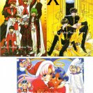 CLAMP Nakayoshi Furoku X 1999 Magic Knight Layearth Postcard Set of 3