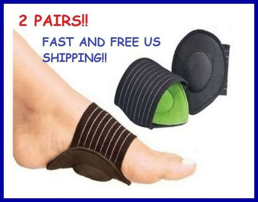** 2 PAIRS!! ** STRUTZ CUSHIONED ARCH FOOT SUPPORT~Eases Plantar Fasciitis Pain