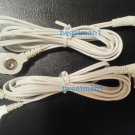 +BONUS Electrode Lead Wires/Cable Connectors for 2 Snap-tip Pads~3.5mm Plug~TENS