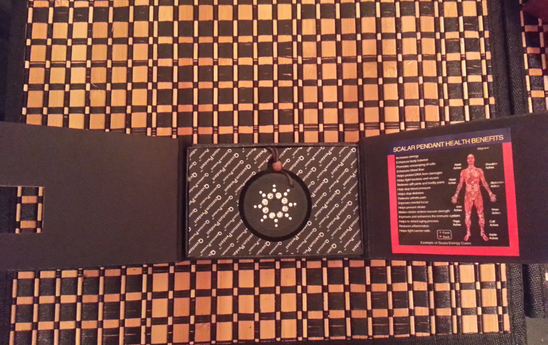 Cubic Zirconia Quantum Scalar Sciance Energy Pendant w/EMF Protection w/Card NIB